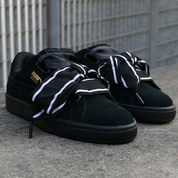 260595bb4e19a NIB Puma Suede Heart Satin II Women s Sneaker